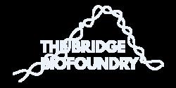 Logo The bridge biofoundry en blanco